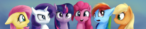 theponyartcollection:  Mane Six by *Sokolas
