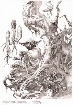 """The Swamp Dweller"", pencil by Andy Brase"