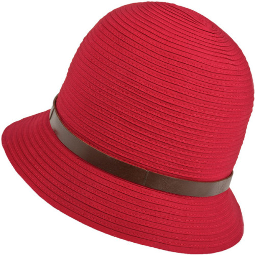 Grevi Red Belted Soft Woven Hat   ❤ liked on Polyvore (see more grevis)