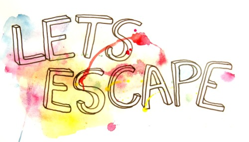 "hitrecord:  ""escape"" Illustration by JustEilidh"