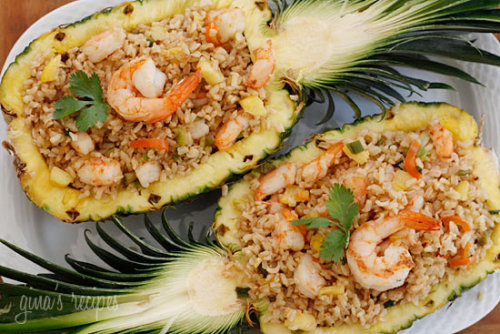 healthyliving-and-fitness:  Pineapple Shrimp Fried Rice