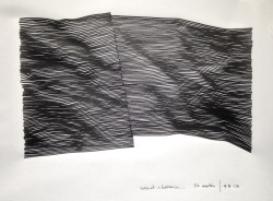 """Even At A Distance"", 2013  By: KEVIN TOWNSEND…. **ALL his line drawings are sick…..follow him on tumblr as well…."