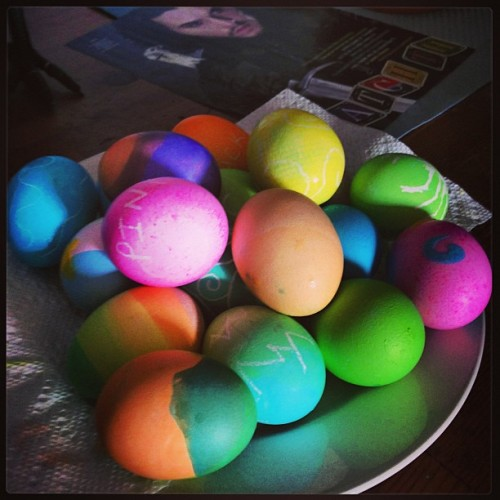 Easter dye fun time!!!