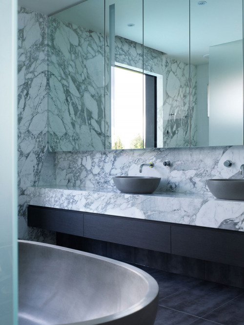 Marble and grey basins!