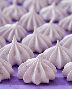 Blueberry Almond Meringues Ingredients: 1 cup granulated sugar, divided 1/4 cup freeze-dried blueberries 3 large egg whites, room temperature 1/8 teaspoon cream of tartar 1/4 teaspoon almond extract Find the recipe here.