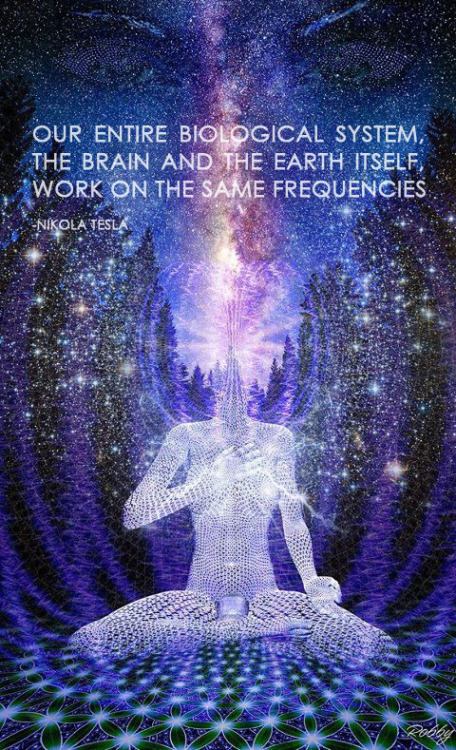 Our entire biological system, the brain and the earth itself, work on the same frequencies. - Nikola Tesla -