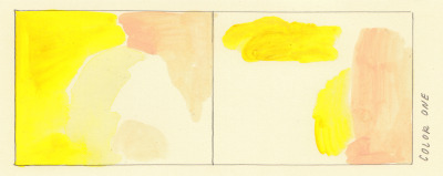comicsworkbook:  Aidan Koch  Color Study No. 1 for comicsworkbook