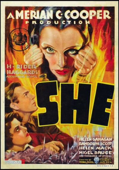 365 Day Movie Challenge - #110: She (1935) - dirs. Lansing C. Holden and Irving Pichel It's fun, though strange. Randolph Scott is likeable but a little dumb - par for the course in most of his films. Nigel Bruce and Helen Mack make for good sidekicks. Helen Gahagan… well, I guess she really was better suited to politics. Nice to see the excellently named Gustav von Seyffertitz in a juicy supporting role.