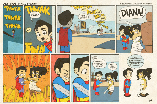 JL8 #119 by Yale Stewart Based on characters in DC Comics. Creative content © Yale Stewart. Like the Facebook page here! Archive 2013 Con Schedule Twitter Pick up the first issue of my creator-owned comic here, or merch at the new online store!