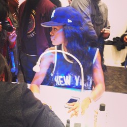- @TeyanaTaylor getting her nails done @adidasoriginals pop up nail salon in NY