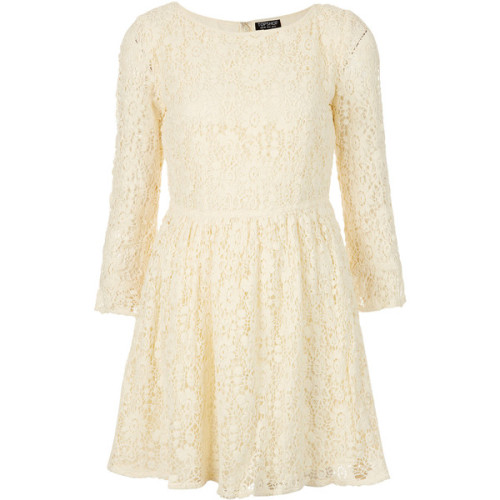 Topshop dress   (see more crochet lace dresses)