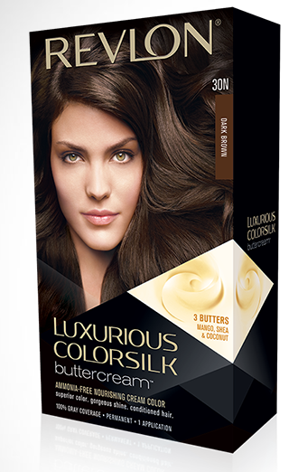 Product Review - Revlon Luxurious Colorsilk Buttercream I recently needed to try a DIY (dye it yourself) hair product because I did not have enough time to go to the salon and get my hair done and let me tell you I fell in love with this product.  I used the Revlon Luxurious Colorsilk Buttercream in the shade 30N Dark Brown.  I wasn't looking for anything special in a product but I needed something that was permanent, would cover some gray hairs (YIKES! :( I know) and finding a product that would add shine as well was a perk. The instructions are very easy to follow although I do recommend if you have long hair/a lot of hair to have someone help you because I was struggling just a bit making sure I had my entire head covered.  I've had this coloring on my hair for four weeks now and it still looks freshly done! Also, the conditioner included in this kit also smells amazing and left my hair feeling smooth!  I would definitely recommend this product and I cannot wait to use it again!