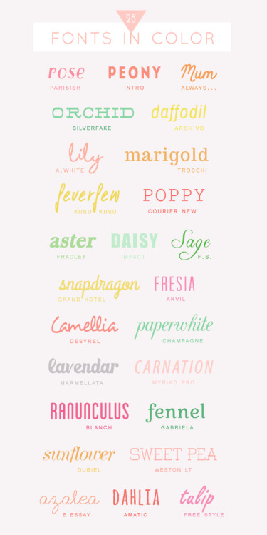 "25 Free colorful fontsOn the blog ""A Subtle Revelry"" we have seen this colorful and bright font compilation, great for your wedding invitations, your cards or your blog. Check it  and download from this link."