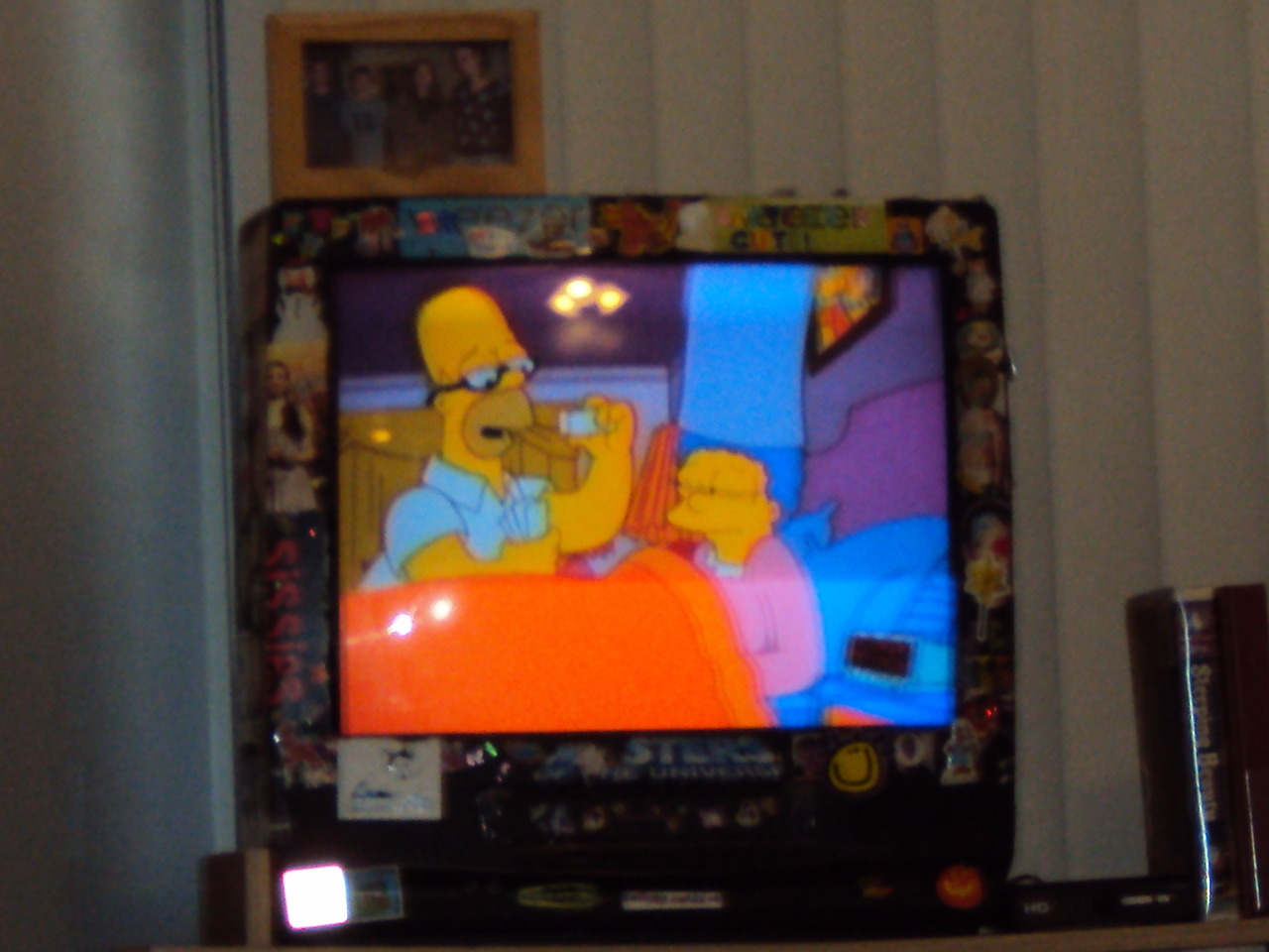 Watching The Simpsons in Michigan (2010). Don't know why photographs of televisions are so cool to me.