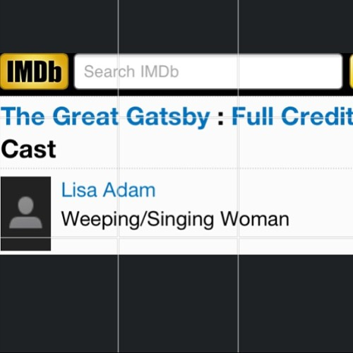 Why didn't I get this role?! #Gatsby