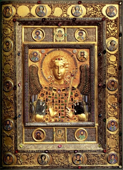 ancient-serpent:  Archangel Michael - icon from a church in Constantinople, c. 10th-11th century