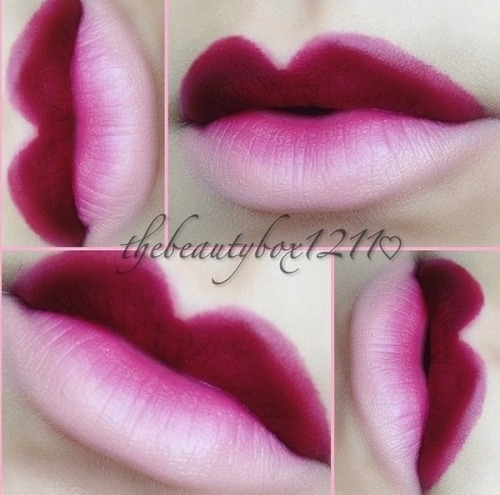 Beautiful ombré lips by Amanda E.!