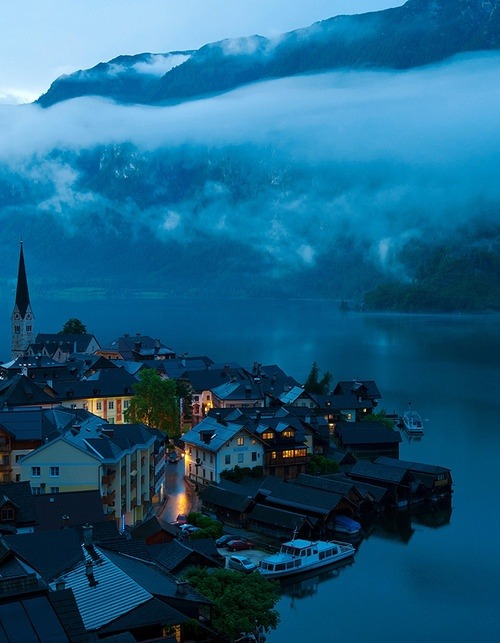 Hallstatt, Upper Austria, Austria. This village has a population of only 900!