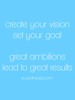 "Great Ambitions Lead to Great Results…  We all know the quotes like aim for the moon and land among the stars, or if your dreams don't scare you then they're not big enough…  What are you doing to push yourself beyond your comfort zone? When was the last time you truly felt gratified by your own accomplishments? When was the last time you thought to yourself ""Wow, I can't believe I just did that?"" … if you can't remember then you owe it to yourself to do something today, right now in fact, that completely shocks your own expectations of yourself. This might just be the push you need to make the move, to take the action you need. This is your opportunity to seize the day! What are you waiting for?"