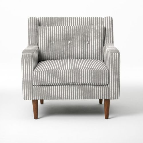 Crosby Armchair in Gravel Painted Strip | west elm