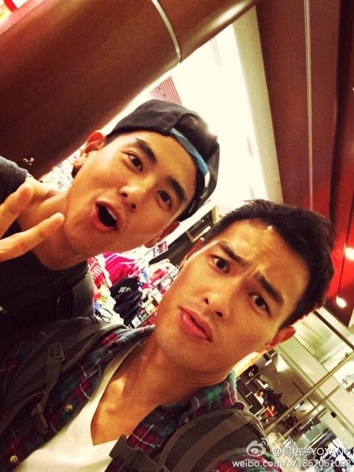 Tony Yang and Eddie Peng in L.A.
