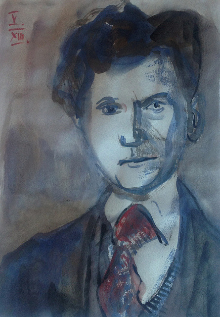 Wilhelm Lehmbruck, watercolor drawing on Japanese paper 18x25cm, May/2013 #berndblacha on Flickr.