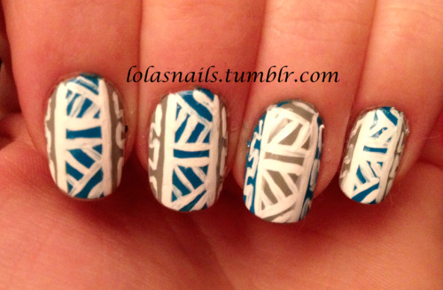 Tribal nail art! (Inspired by video on YouTube).