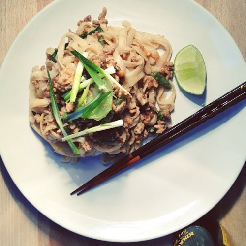 Some lovely turkey + peanut pad thai for all the lazy chefs out there.