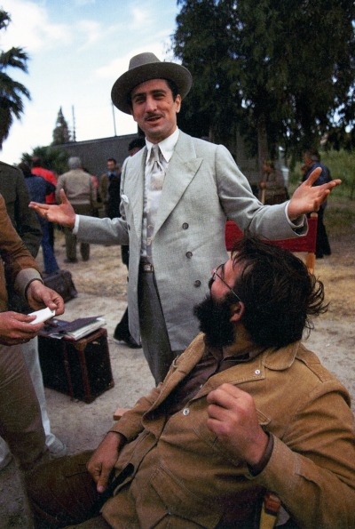 Robert De Niro photographed on the set of The Godfather Part II by Steve Schapiro