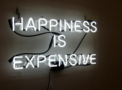 Happiness is Expensive by like the city