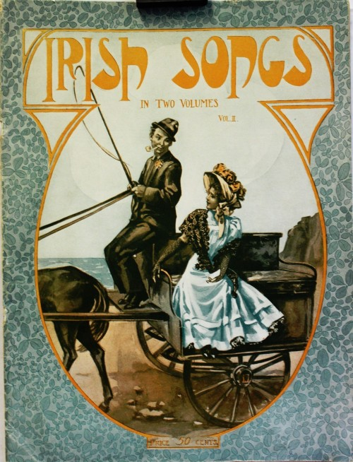 orig 1908, Irish Songs in two volumes Vol 2, 34 pages, Sheet Music booklet,   Songs like Bell of Shannon , Girl I Left Behind, the, Has Sorrow thy Young Days Shaded, Kathleen Mavourneen, Kerry Dance, Last rose of Summer, low Backed Car, The, Molly Bawn, My love's an Arbutus, Off to Philadelphia, Wearing of the green, For the Piano or organ price fifty cents, CR MGM 111 by Academic music