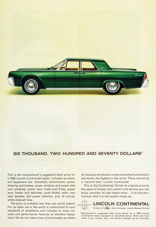 dtxmcclain:  Lincoln Continental, 1963