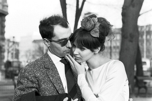 lesfoudres:  (via Anna Karina and Jean-Luc Godard marry, she is wearing dress made by her dressmaker mother, photo by Jean-Claude Sauer, Paris, March 1961 | Flickr - Photo Sharing!)