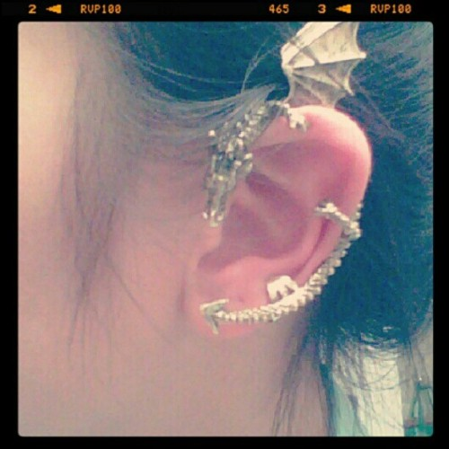 Newww earring! :)    #punk #love #fashion #igers #ootd #earrings #instalikes #igdaily