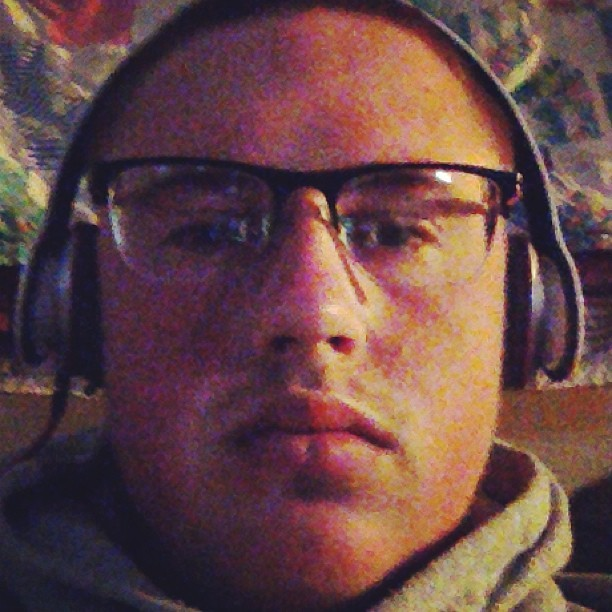 Four eyes with some shadow. #shady #beats #foureyes #bald