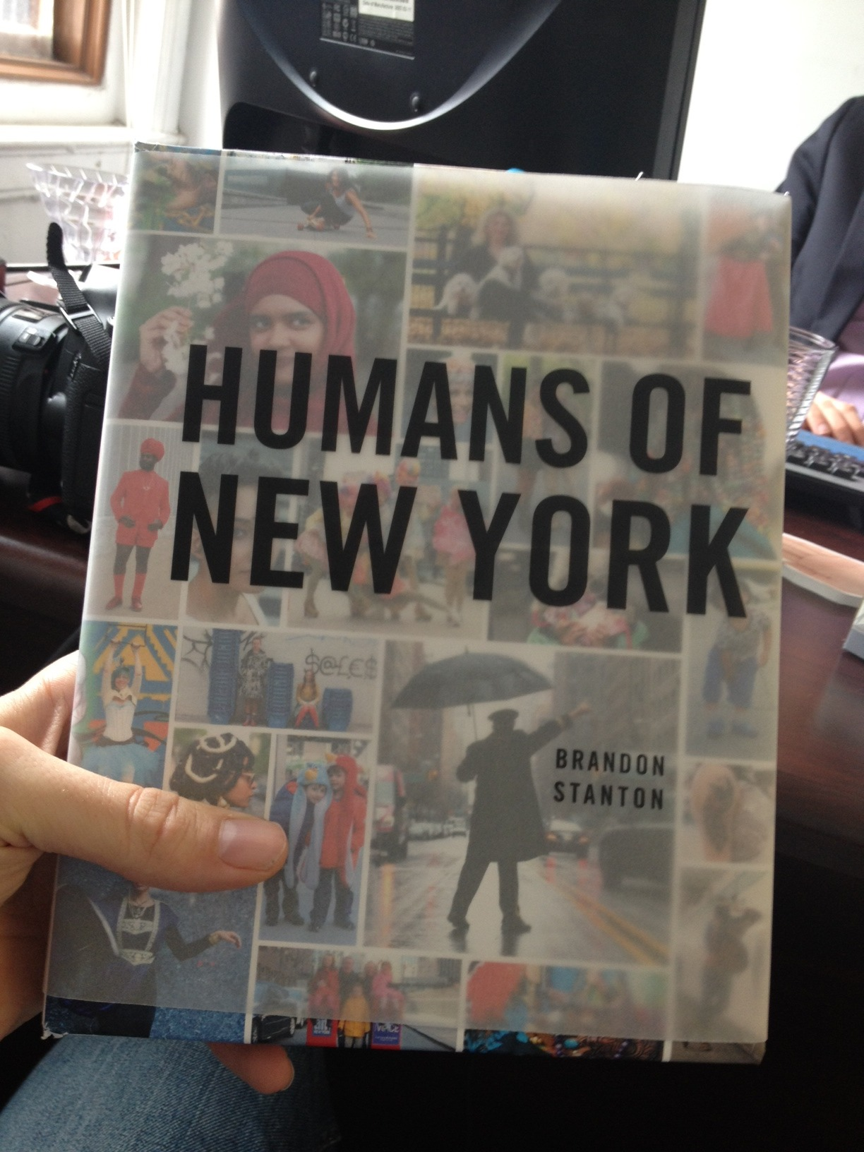 humansofnewyork:  Here's a rough mock-up of what the HONY book cover is going to look like. The actual HONY book will be a little bigger, and the jacket will come all the way to the edges, but you get the idea. I personally think it looks amazing. Actually teared up a bit when they gave it to me. It felt like I was holding a few years of my life in my hand.The book is coming out in 6 months, on October 15th. But do me a favor— if you KNOW you'll be getting one, and can spare $20, go ahead and preorder now. Bookstores order a long time in advance, so if we can demonstrate solid demand in these first few days, it will go a long way in determining the final success of the book.Historically, nationwide booksellers have been a bit skeptical of both photography and city-centric books. I know HONY is different. You know HONY is different. But it would help a ton if we could SHOW that HONY is different by turning in great presale numbers. All the work I've seen so far is really exciting, and I promise that I'm working overtime to make sure it's the best $20 that you'll ever spend. As always, thanks so much for your support, and here it is:Hardcover (I absolutely insisted.) 300+ beautifully designed pages. 400 total images. (320 of my favorites, 80 new)Complete with stories and captionsOnly $20.AMAZON: http://amzn.to/10sbtW5BARNES AND NOBLE: http://bit.ly/YOoQCY  Buy this book!