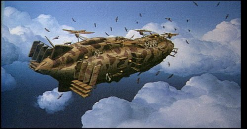 "The Airship ""Goliath"" from the Animated film ""Laputa Castle in the sky"""