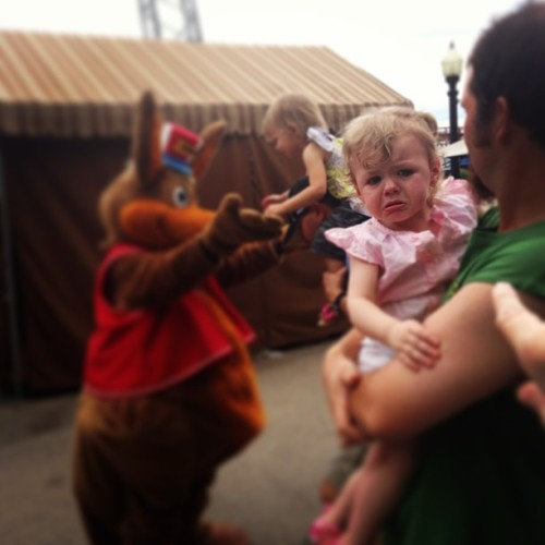 Someone's scared of Kenny! 😂 (at Kennywood Park)