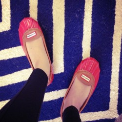Thank goodness for my @hunterboots rain flats on this rainy #monday! #rainflats #musthave