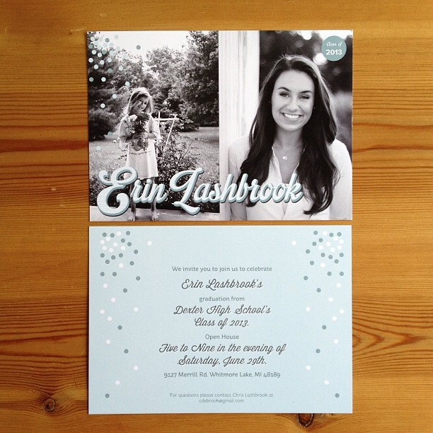 @urnlish sweetness :) #gradparty #invitations #invitationdesign #mint #classof2013