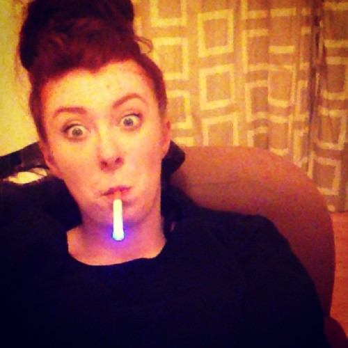 The light #ecig #hairbun #random