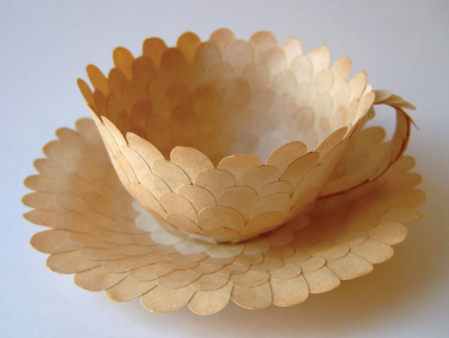 patience, paper tea cup (by Cecilia Levy)
