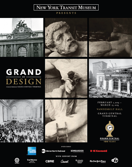 "artsfortransit:  nytransitmuseum:  Grand By Design, an exhibition celebrating 100 years of Grand Central Terminal, is now open in Vanderbilt Hall! Visit us until 3 pm today. Starting tomorrow the exhibition will be open from 8 am - 10 pm. Guided tours every hour on the half hour from 11:30 am - 7 pm.   Welcome to Tumblr, NY Transit Museum!   Experience ""Grand By Design"" now through March 15, 2013. The exhibit features projections and larger-than-life photography, free-standing installations, authentic artifacts and digital docents — as well as new and historical audio and video.  Grand Central Terminal's Centennial celebrations continue throughout the year. Find more info here!"