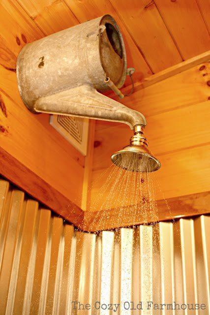 sunnyinoregon:  Rustic shower head