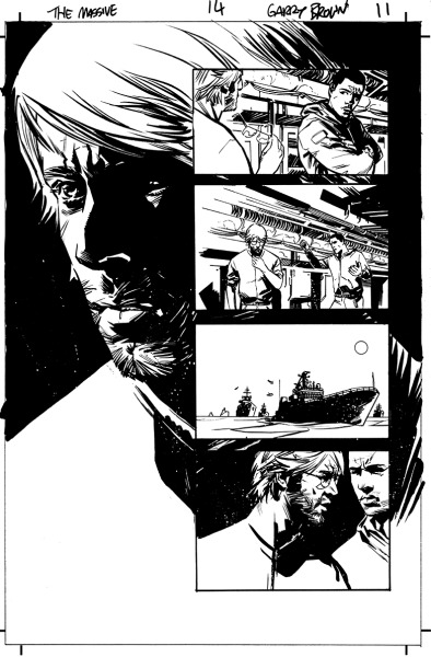 A page of inks from issue 15. Non-spoilerish.