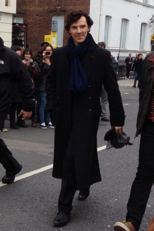 im-too-obsessed-with-sherlock:  Filming <3