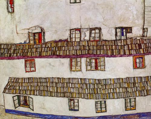 german-expressionists:  Egon Schiele, Windows (Facade of a House), 1914   egon schiele