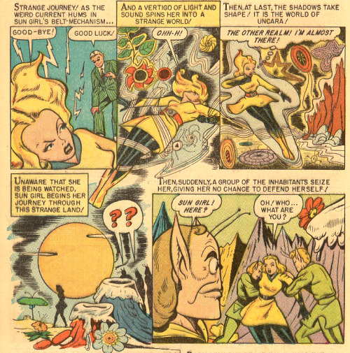 nickminichino:  seanhowe:  Marvel Mystery Comics #89. Art by Mike Sekowsky  i L O V E this art. i wish this forties stuff was collected because i bet single issues are ridiculously expensive  that distant looming flower in the last panel