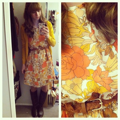 This pretty coral and yellow floral frock looks amazing with a mustard cardigan! <3 Jess, ModStylist Need styling suggestions, trend tips, or dress details? Ask a ModStylist and your question might be featured on our feed! mypoeticmemory:    Bright colors for a gloomy day.