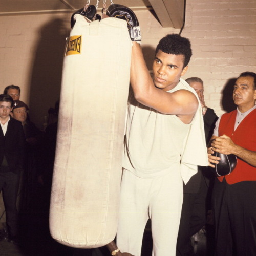 Happy 71st Birthday to Muhammad Ali! The Greatest and, quite possibly, The Handsomest of All Time, was born Cassius Clay in Louisville, Kentucky. This photo of Mr. Ali was taken in 1966 in London, where he was training for his upcoming fight with British champion Henry Cooper. Photo: Keystone-France/Getty.
